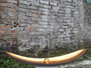 BRONZE vaas 110x20x22 cm Bronze