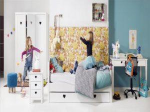 3-delige kinderkamer met 2-deurskast